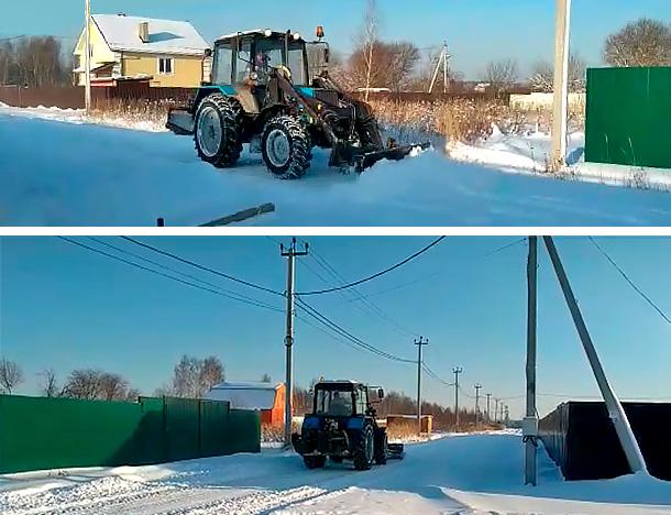 Чистка снега в поселке «Чистые пруды»